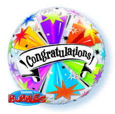 Congratulations Banner Blast Bubble Balloon